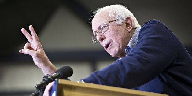 Senator Bernie Sanders, an independent from Vermont and 2016 Democratic presidential candidate, speaks during a campaign even