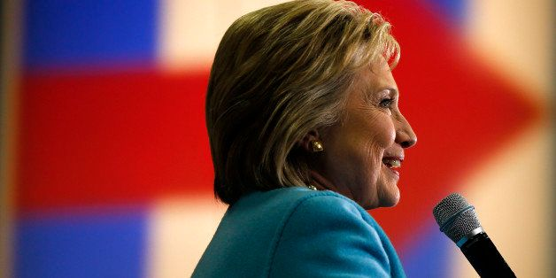 Democratic presidential candidate Hillary Clinton speaks during a campaign stop Monday, Feb. 8, 2016,...