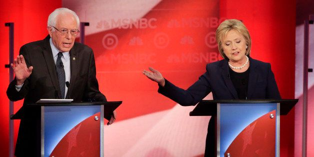 Democratic presidential candidate, Sen. Bernie Sanders, I-Vt, and Democratic presidential candidate, former Secretary of Stat