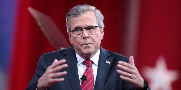 Former Governor Jeb Bush of Florida speaking at the 2015 Conservative Political Action Conference (CPAC) in National Harbor,
