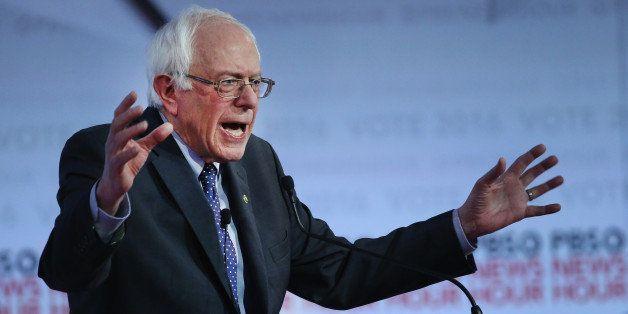MILWAUKEE, WI - FEBRUARY 11:  Democratic presidential candidate Senator Bernie Sanders participates in the PBS NewsHour Democ