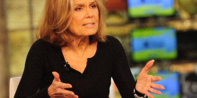NEW YORK - OCTOBER 23: Gloria Steinem visits CBS This Morning with Co-hosts Charlie Rose, Norah O'Donnell and Gayle King on F
