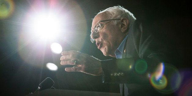 Democratic presidential candidate Sen. Bernie Sanders, I-Vt., speaks during a campaign stop at the University of New Hampshir