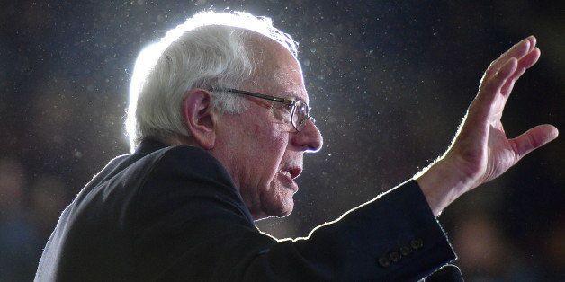 ATLANTA, GA - FEBRUARY 16:  Democratic Presidentail Candidate Sen. Bernie Sanders speaks during the Bernie Sanders HBCU Tour