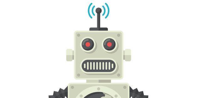 Robot, Flat design, vector illustration, isolated on white background
