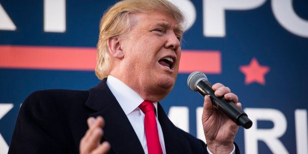 WALTERBORO, SC - FEBRUARY 17: Republican presidential candidate Donald Trump speaks at a campaign event held in Walterboro, S