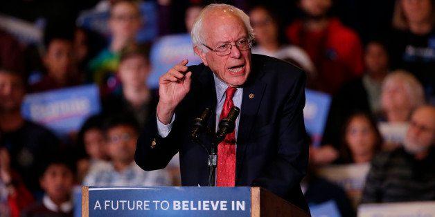 Democratic presidential candidate, Sen. Bernie Sanders, I-Vt., speaks during a rally Friday, Feb. 19, 2016, in Reno, Nev. (AP