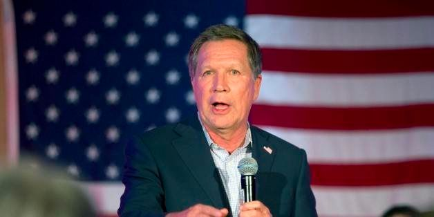 Republican presidential candidate, Ohio Gov. John Kasich speaks during a campaign rally in Wakefield, Mass., Saturday, Feb. 2