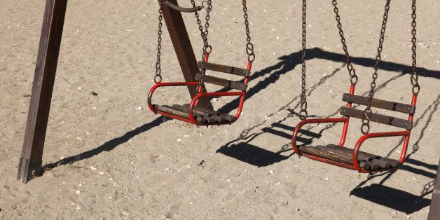Details from deserted and old playground suitable for small children in Alexandroupolis - Greece