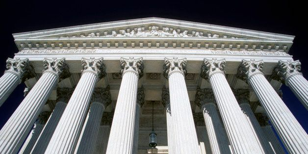 US Supreme Court building, Washington DC, USA.Courthouse, Federal Building, Architecture, Marble, Building exterior, Colonnad