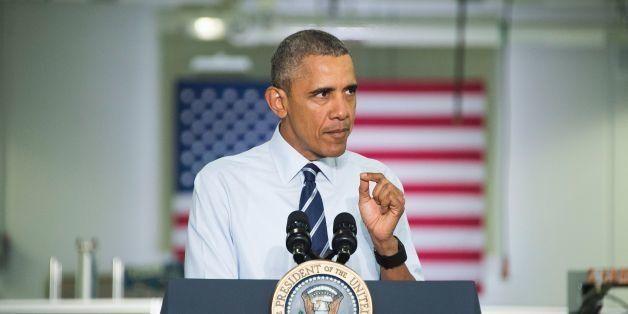 US President Barack Obama speaks after touring Saft America Advanced Batteries Plant in Jacksonville, Florida February 26, 20