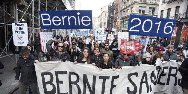 MANHATTAN, NEW YORK CITY, UNITED STATES - 2016/02/27: Hundreds of New Yorkers gathered in Union Square Park to rally and marc