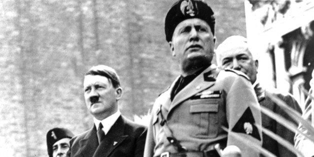 Hitler's visit in Italy. Hitler and Mussolini in Venice, 1934, Italy. (Photo by: Photo12/UIG via Getty Images)