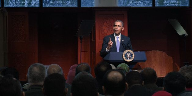 President Barack Obama visits the Islamic Society of Baltimore on Wednesday, Feb. 3, 2016. (Kenneth K. Lam/Baltimore Sun/TNS