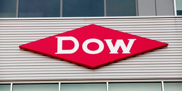 MIDLAND, MI - DECEMBER 10:  The Dow Chemical logo is shown on a building in downtown Midland, home of the Dow Chemical Compan