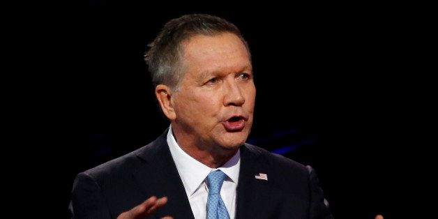 Republican Presidential candidate Ohio Governor John Kasich speaks during the CNN Republican Presidential Debate March 10, 20