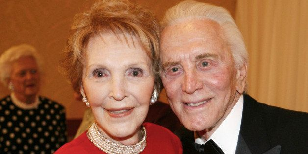 INDIAN WELLS, CA - JANUARY 17:  (NO U.S. TABLOID SALES)  Former first lady Nancy Reagan and actor Kirk Douglas attend the 20t