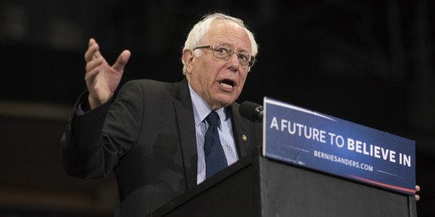 Senator Bernie Sanders, an independent from Vermont and 2016 Democratic presidential candidate, speaks during a campaign rall