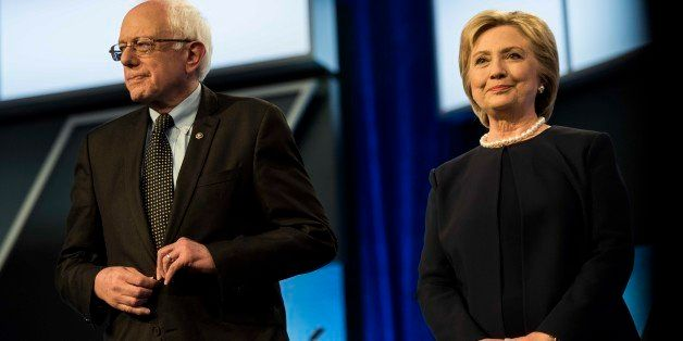 MIAMI, FL - Former Secretary of State Hillary Clinton and Senator Bernie Sanders participate in the Univision News and Washin
