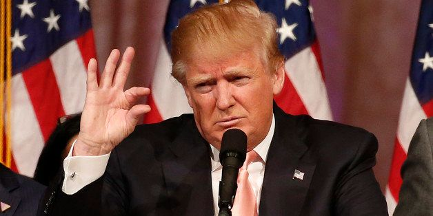 TOPSHOT - Republican presidential candidate Donald Trump addresses a press conference following his  victory in the Florida s
