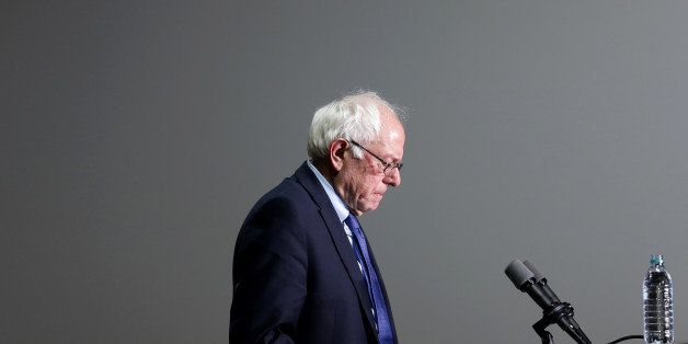 Senator Bernie Sanders, an independent from Vermont and 2016 Democratic presidential candidate, pauses while speaking during