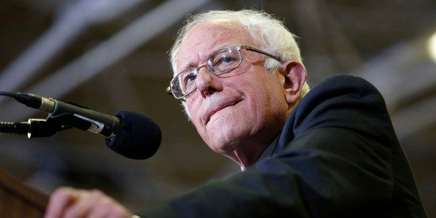 Democratic presidential candidate, Sen. Bernie Sanders, I-Vt., speaks at a rally Monday, March 21, 2016, in Salt Lake City. (