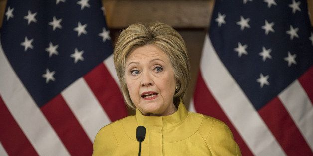 Hillary Clinton, former Secretary of State and 2016 Democratic presidential candidate, speaks during an event at Stanford Uni