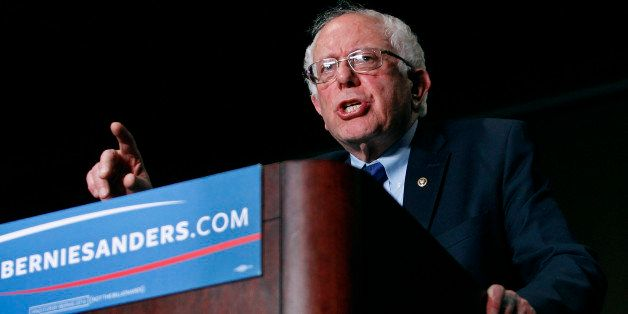 PHOENIX, AZ - MARCH 15:  Democratic presidential candidate Sen. Bernie Sanders (D-VT) speaks to a crowd gathered at the Phoen