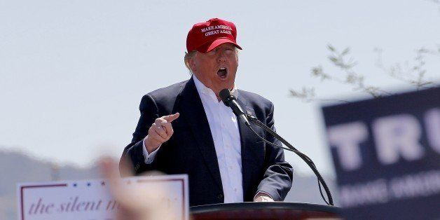 Republican presidential candidate Donald Trump speaks during a campaign rally, Saturday, March 19, 2016, in Fountain Hills, A
