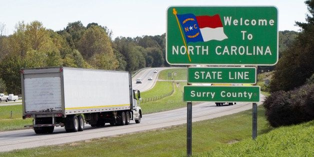 'Welcome to North Carolina' sign