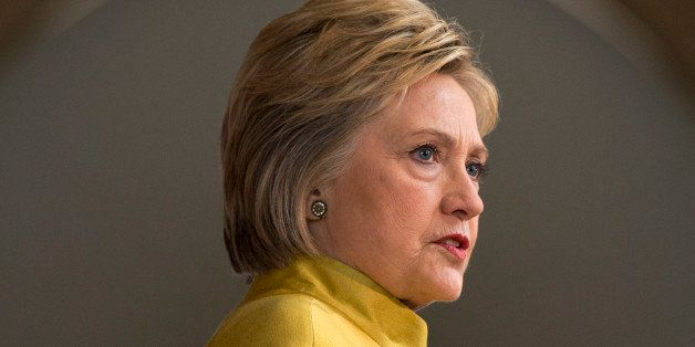 Democratic presidential candidate Hillary Clinton speaks about counterterrorism, Wednesday, March 23, 2016, at the Bechtel Co