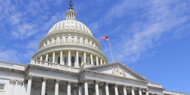 Washington DC, capital city of the United States. National Capitol building.