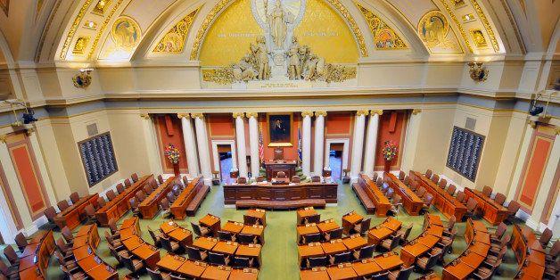 Senate Chambers Minneapolis Minnesota State Capitol Capital Building.