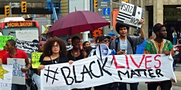 Black Lives Matter protesters march through the streets of Ottawa on May 30, 2015. Photo: OBERT MADONDO/The Canadian Progress