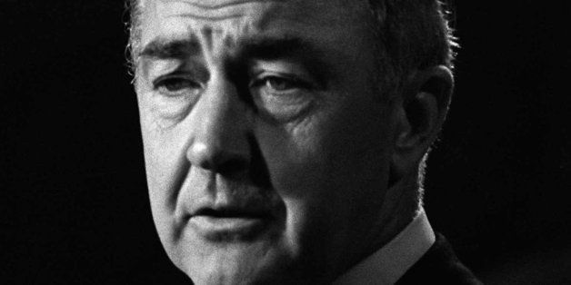 Sen. Eugene McCarthy, his hopes of becoming the Democratic presidential candidate, discusses his defeat in this August 29, 19