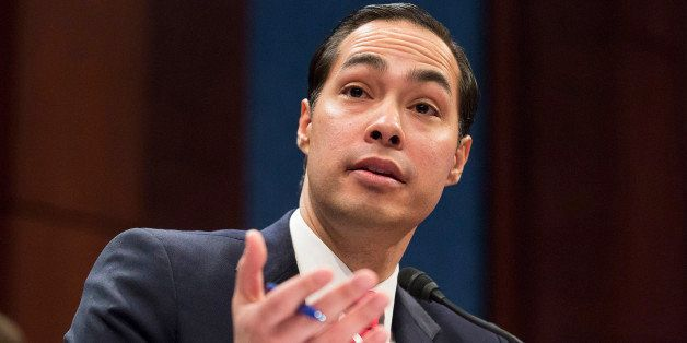 Housing and Urban Development (HUD) Secretary Julian Castro testifies before a House Financial Services Committee hearing on