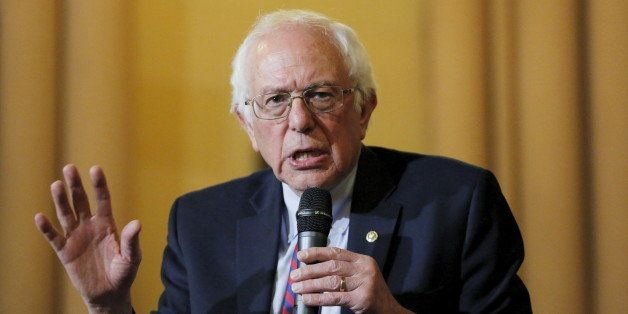 U.S. Democratic presidential candidate Bernie Sanders speaks during a panel discussion at the First Unitarian Congregational
