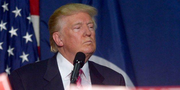 FREDERICKSBURG, VA - AUGUST 20:  GOP nominee Donald Trump holds a rally in Fredricksburg, VA on August 20, 2016 in Fredericks