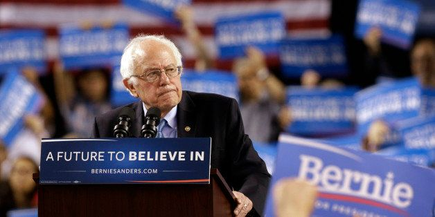 Democratic presidential candidate, Sen. Bernie Sanders, I-Vt., speaks during a rally in Baltimore, Saturday, April 23, 2016.