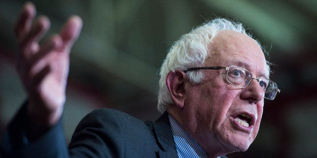 SHEBOYGAN, WI - APRIL 1: Democratic presidential candidate Sen. Bernie Sanders, I-Vt., speaks during a campaign event at the