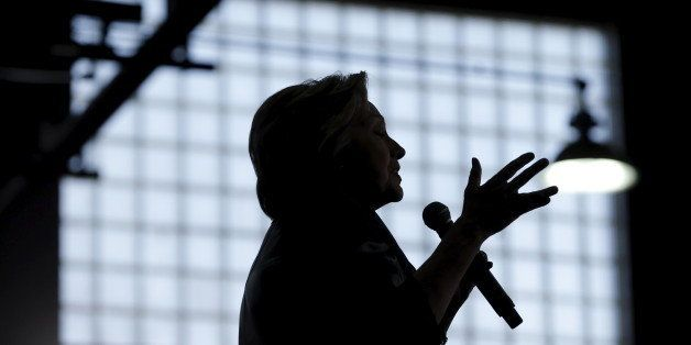 U.S. Democratic presidential candidate Hillary Clinton speaks at a campaign rally in Bridgeport, Connecticut, U.S., April 24,