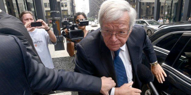 FILE - In this June 9, 2015 file photo, former House Speaker Dennis Hastert arrives at the federal courthouse in Chicago. Has