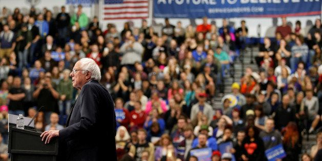 U.S. Democratic presidential candidate Bernie Sanders (I-VT) speaks during a campaign rally at the Indiana University-Purdue