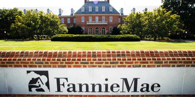 The Fannie Mae headquarters is seen in Washington, Monday, Aug. 8, 2011. Standard & Poor's Ratings Services on Monday dow
