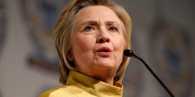 Democratic presidential candidate Hillary Clinton addresses the attendees of the 61st Annual NAACP 'Fight For Freedom Fund Di