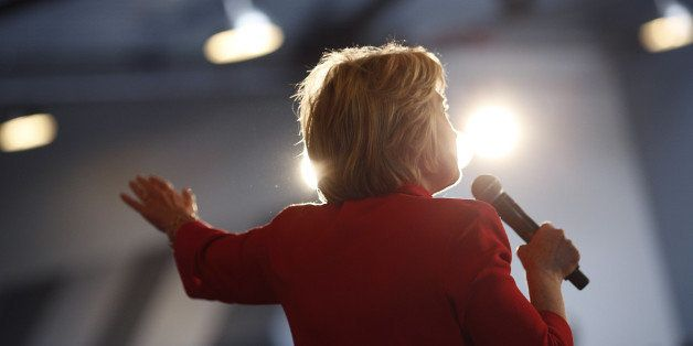 Hillary Clinton, former Secretary of State and 2016 Democratic presidential candidate, speaks during a campaign event in Bowl