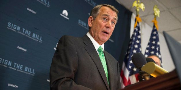 FILE - In this Oct. 21, 2015 file photo, House Speaker John Boehner of Ohio speaks during a news conference on Capitol Hill i