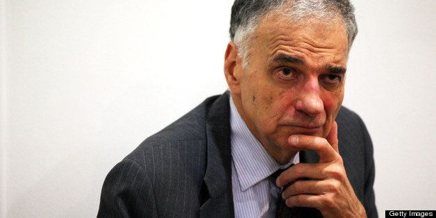 WASHINGTON, DC - JULY 02:  Former presidential candidate Ralph Nader listens during a news conference July 2, 2012 at Public