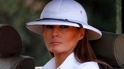 아프리카를 순방중인 멜라니아의 모자가 비판을 받고