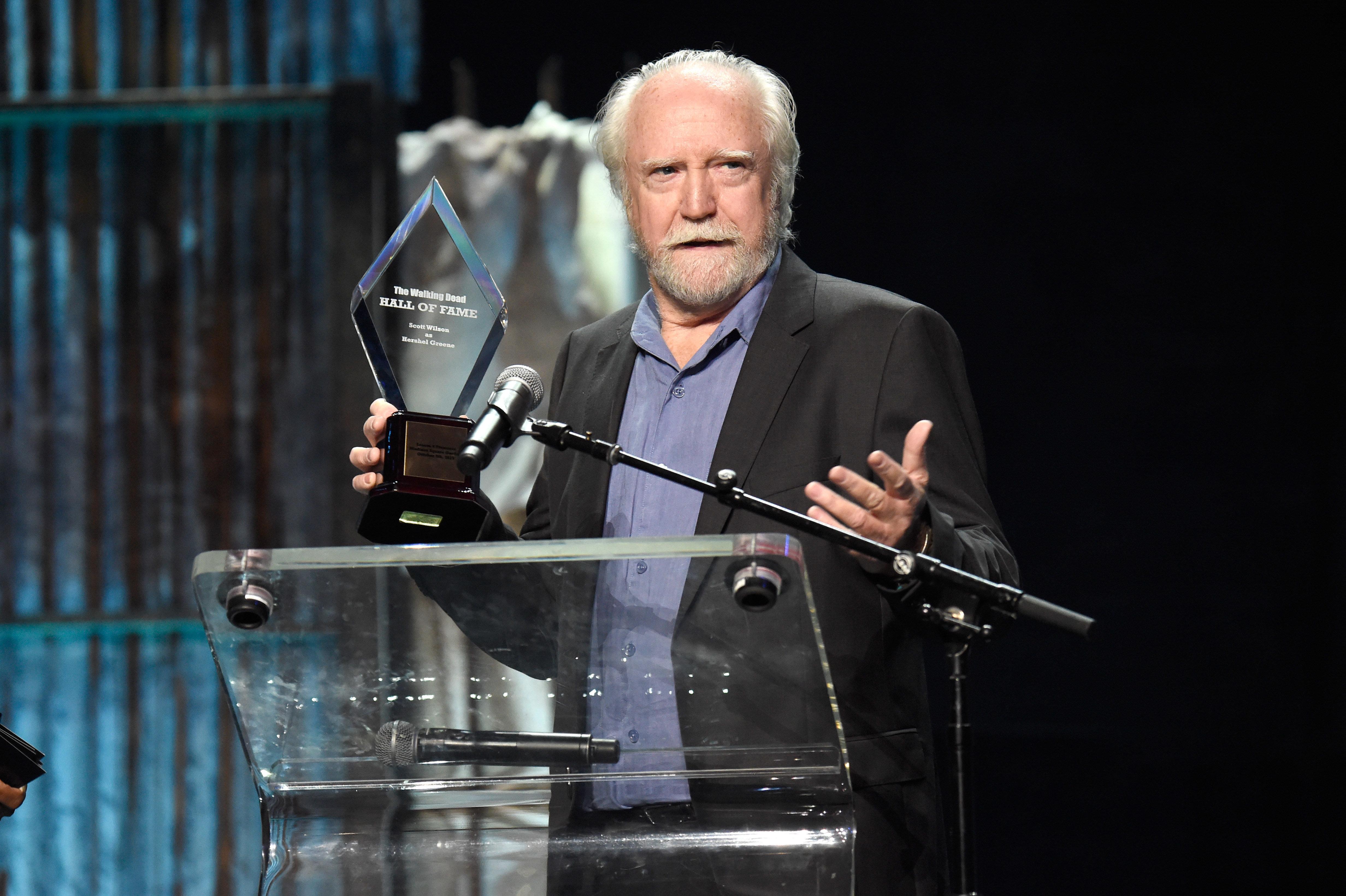 "Scott Wilson played the beloved veterinarian Hershel Greene for four seasons on ""The Walking Dead."""